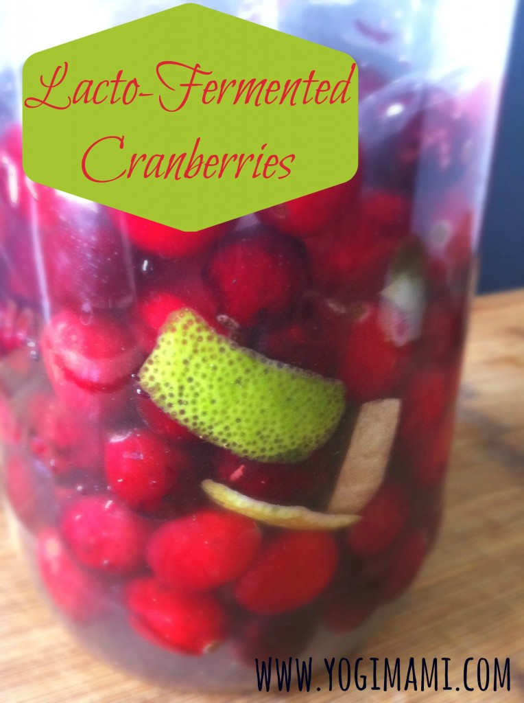 Lacto-Fermented Cranberries